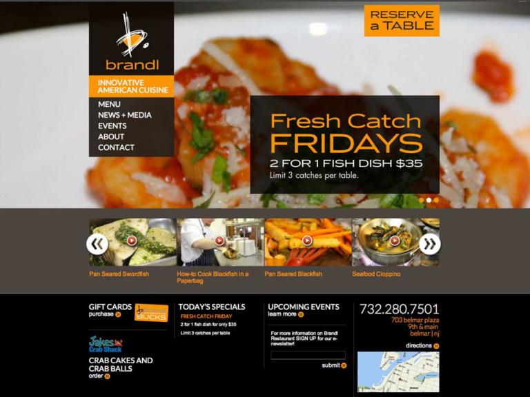 thiet ke website restaurant